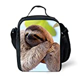 Best Thermos Lunch Boxes For Boys - Amzbeauty Flash Sloth Lunch Bag for Kids insulated Review