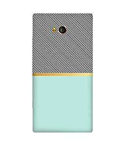 Teal Black Lines Gionee Elife E8 Printed Back Cover