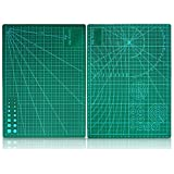 Questquo Double Sided Green Cutting Mat Board A4 Size Pad Model Healing Design Craft Tool