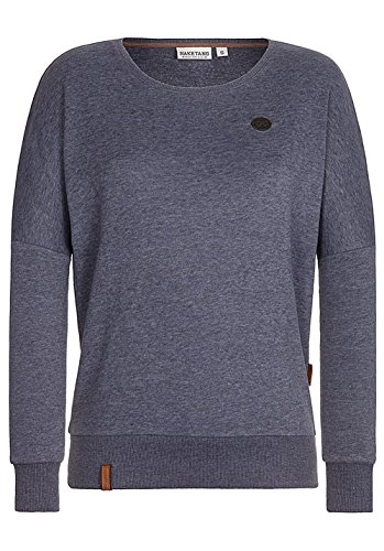 Naketano Damen Sweatshirt burning melange (296) M-burning melange