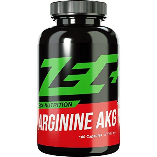 ZEC+ Kapseln ARGININ | Pump Supplement | verbesserter Blutfluss und Nährstofftransport | Aminosäure L-Arginin mit besserer Verwertbarkeit durch AKG Alpha Ketoglutarat | 180 Kapseln