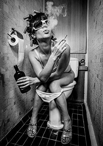 PICSonPAPER Poster Toiletparty, ungerahmt Din A4, Dekoration, Kunstdruck, Wandbild, Fineartprint (Din A4)