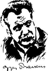 Sticker Georges Brassens - 57x84 cm