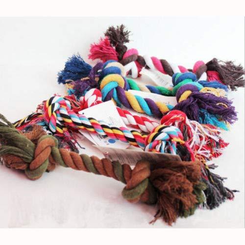 shopofpengpeng 1PCS Welpe Hund Katze Haustier Toy Cotton geflochten Bone Rope Zähne Clean Tug Chew Knoten CN
