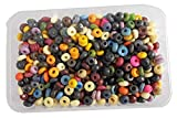#3: Eshoppee Multi Color Bone Beads for Jewellery Making Material kit Arts and Craft Material for Embroidery do it Yourself DIY kit Size 8mm