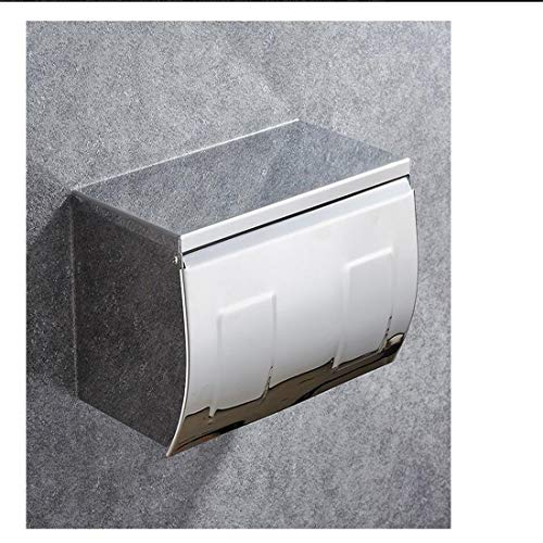 Rostschutz Edelstahl Bad Wc Tissue Box Wasserdichte Durable Toilettenpapier Box Badezimmer Wand Tissue Dispenser (Wand-dispenser)