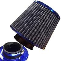 Generic Universale finitura blu auto Kit filtro aria di induzione ad alta potenza sportivo cono < 1& 2251* 1> - Anelli Aria Sportivo