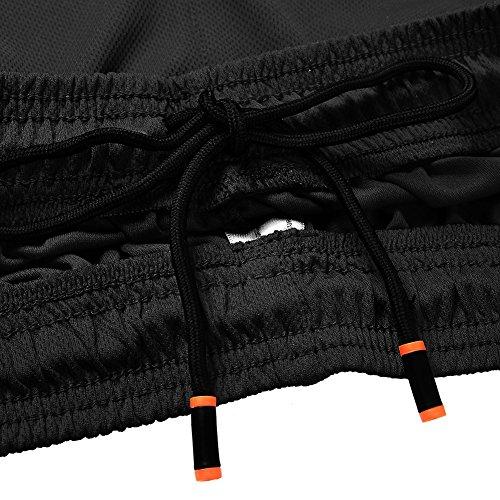 Yalatan Uomo Shorts Mesh sport di prestazione Fitness pallacanestro Pantaloncini da corsa palestra di sport dei pantaloni Nero