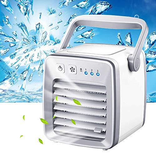 Yehyep Tragbare Klimaanlage, 3-in-1-Luftkühler, USB-Luftkühler-Ventilator Evapolar-Ventilator Schreibtischventilator Mini-Klimagerät Artic Air Cool Beruhigender Ventilator für Zuhause/Büro,A 625 Usb-pc