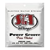 SIT Strings PN1046 Cordes pour guitare électrique Light 10-46 Power Groove Pure Nickel