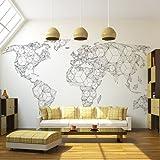 murando – Papier peint intissé 350x270 cm - Papier peint - Trompe l oeil - Tableaux muraux - déco – XXL la carte du monde - 10040910-65