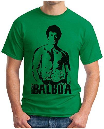 OM3 - ROCKY BALBOA - T-Shirt BOXER 70s 80s The ITALIEN STALLION USA, S - 5XL Grün
