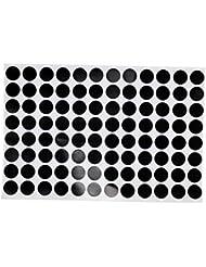 Gazechimp Set de 96 1.2cm Noir Autocollant Marquage Spot pour Table de Snooker Billard - Autoadhésif