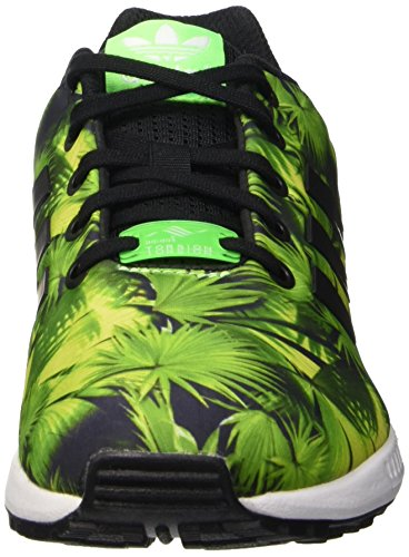 adidas Zx Flux - Scarpe da Ginnastica Basse Unisex - Bambini Multicolore (Cblack/Cblack/Ftwwht)