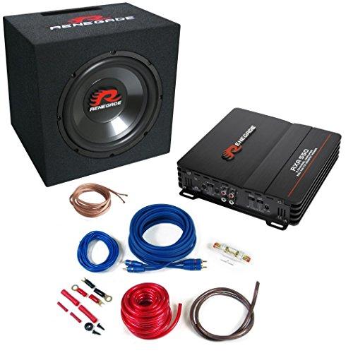 Renegade Bass X L XLR Auto-Lautsprecher Kit Auto–KFZ-Lautsprecher (XLR, 550W) (Rms Subwoofer 500w)