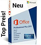 Microsoft Office Professional Plus 2013 Vollversion - 1PC MULTILANGUAGE (Product OEM Key ohne Datenträger inkl. Rechnung) -
