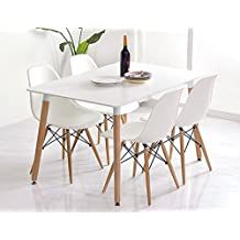 Conjunto de mesa 120 + 4 sillas Tower