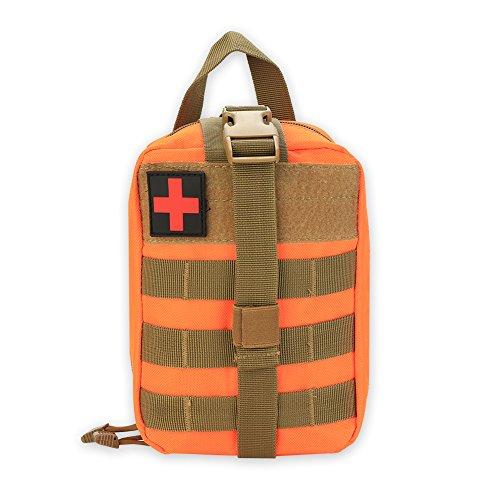 Erste Hilfe Tasche Notfalltasche Mediziinische Hilfe für Outdoor-Aktivitäten Klettern Camping Wandern Radfahren(Orange)