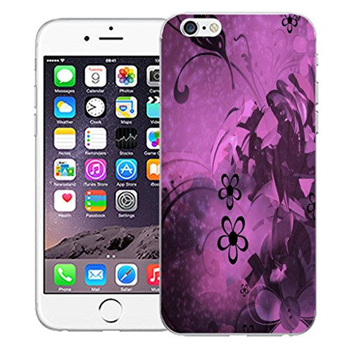 "Mobile Case Mate iPhone 6 4.7"" inch clip on Dur Coque couverture case cover Pare-chocs - Rose aries Motif midnight bloom"
