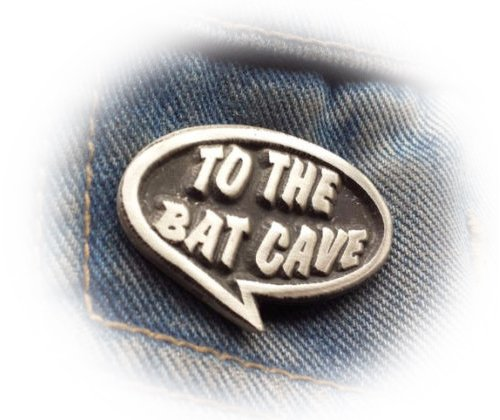 Zu The Bat Cave Batman Zitat Zinn Brosche Free UK Post Zinn SCI-FI
