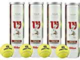4 x 4er-Dose Wilson TOUR PRACTICE Tennisball = 16 Tennisbälle