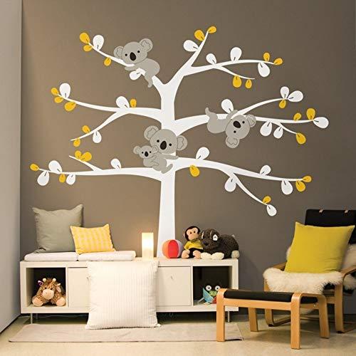 Übergroße Süße Koala Baum Wandtattoos Für Kinderzimmer Benutzerdefinierte Farbe Australien Koslas Baum Wandaufkleber Für Kinderzimmer Wandtattoo 229X236cm