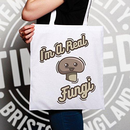 Gioco Di Parole Sacchetto Di Tote Sono uno slogan reale Funghi Fungo sveglio divertente sciocco Fun Guy Natural