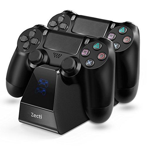 Zecti PS4 Controller Cargador Dual Fast Charging Dualshock PlayStation