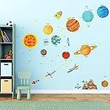 Decowall DA-1501 El Sistema Solar Vinilo Pegatinas Decorativas Adhesiva Pared Dormitorio Salón Guardería Habitación Infantiles Niños Bebés (Grande)