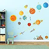 Decowall, DM-1501, The Solar System Wall Stickers/Wall decals/Wall tattoos/Wall transfers
