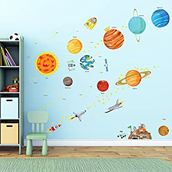 Decowall DA 1501 The Solar System Kids Wall Stickers Wall Decals Peel And  Stick Removable Part 79