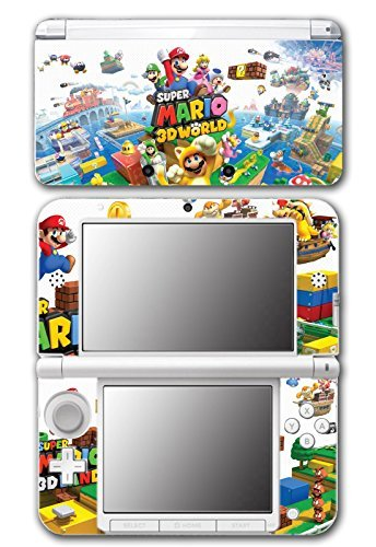 Super Mario 3D World 2 Land Mario Luigi Peach Toad Cat Suit Video Game Vinyl Decal Skin Sticker Cover for Original Nintendo 3DS XL System by Vinyl Skin Designs
