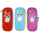 Shopaholic Cute Owl Face Hardtop EVA Pencil Case Big Pencil Box With Compartment For Kids- Small