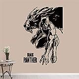 qwerdf Marvel Comics Panther Movie Poster Hot Movies Affiche Art Decor Home Decor Vinyle Amovible Pépinière Enfants Chambre Mur Autocollant 87 * 58cm