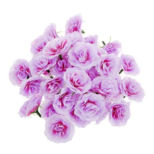 Generic 50pcs Künstliche Seide Rosen Blütenköpfe Blumen-Köpfe Hochzeit Parteidekor Bulk