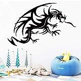 Flying Dragon Wandaufkleber Moderne Mode Wandaufkleber Dekoration Zubehör für Wohnzimmer Bett Zimmer Aufkleber Wandbild 43x62 cm