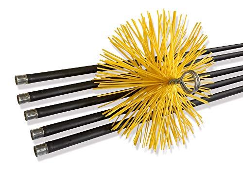 Leman 7890.150 Erizo met/álico redondo para deshollinar di/ámetro 150 mm