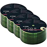 TDK 25-200 PACK CDR BLANK DISCS CD-R RECORDABLE CD 80 MINS 52X 700MB (100)