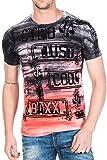 Cipo & Baxx T-Shirt Herren Slim Fit mit Rundhalsschnitt Einzigartige Prints CT 401, Rosa, S