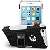 Boom Shock 2 iPhone 6 6S Case With Kickstand Stand. Slim Protective Design. Non Slip Grip. Unique Hybrid Soft & Hard Shockproof Protection Mobile Phone Cover for Apple iPhone. No Risk 3 Year Warranty. (White)