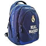 Real Madrid Exclusiv y ergonómico Mochila Ronaldo Mochila Escolar Bolsa 45x 31x 16cm Acero 2018