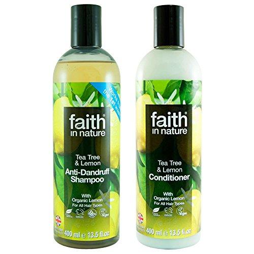 Faith in Nature Citron et arbre à thé Shampooing 400 ml et après-shampoing 400 ml Duo