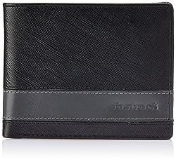 Fastrack Black and Grey Mens Wallet (C0381LBK01)