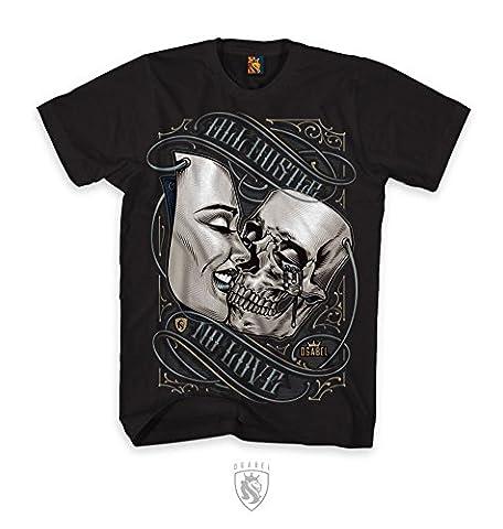 OGABEL Men's Kiss Mask SS T Shirt Black XL