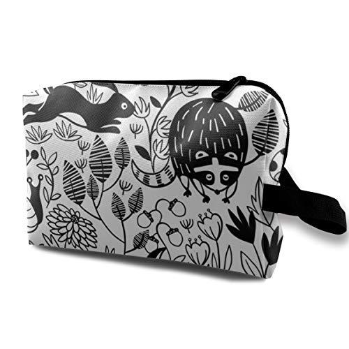 Garten Critters_2970 Tragbare Reise Make-up Kosmetiktaschen Organizer Multifunktions Tasche für Frauen