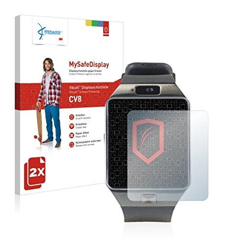 2x Vikuiti MySafeBildschirm CV8 Bildschirmschutz Schutzfolie für Simvalley Mobile PX-4057 (Ultraklar, strak haftend, versiegelt Kratzer)