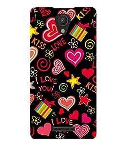 printtech I Love You Heart Gift Back Case Cover for Xiaomi Redmi 3S::Xiaomi Redmi 3::Xiaomi Redmi 3 (3rd Gen)