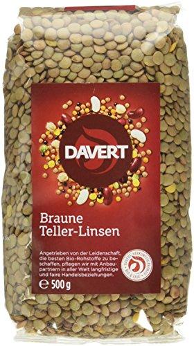 Davert Braune Teller-Linsen Bio, 500 g