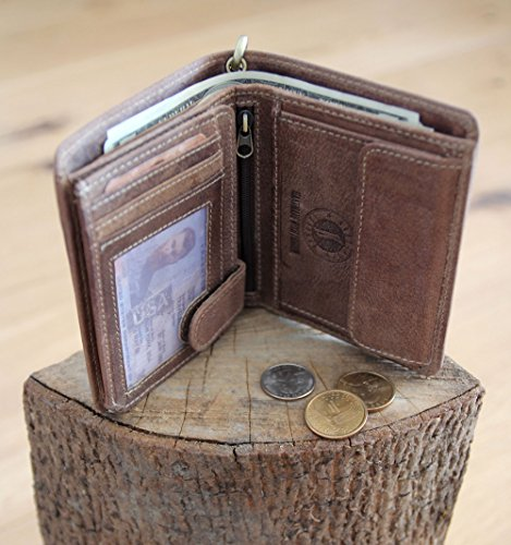 "Geldbörse mit Kette aus echtem Leder ""Wayne Bear"