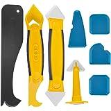 Kit de herramientas de calafateo de silicona, juego de removedor de sellador de 8 piezas con raspador / boquilla, herramienta